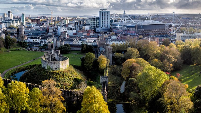 Cardiff surprises with many parks and green spaces